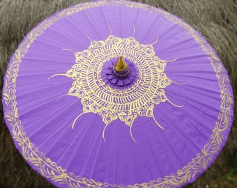 Hand Painted Purple Parasol, Purple Umbrella, Parasol, Umbrella, Parasols, Umbrellas, Wedding Parasol, Waterproof Parasol, Parasol Umbrella