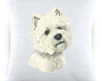 West Highland Terrier Satin Throw Pillows 44023
