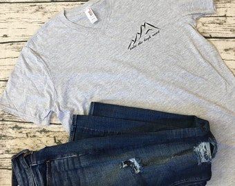 Take the High Road Loose Fitted Women's Tee. Be kind, be the bigger person, take the high road. Inspiring and pure, cute and cozy