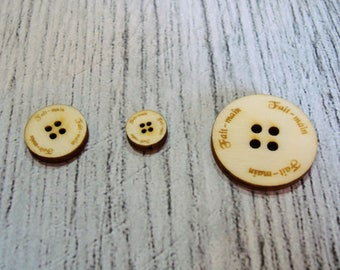 Buttons hand-made wooden Littles 1308 embellishment