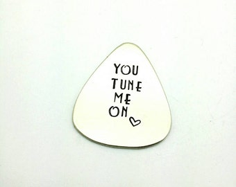 You Tune Me On Guitar Pick, Gift for Him, Gift for Boyfriend, Gift for Husband, Valentine Gift, Valentine's Day Gift