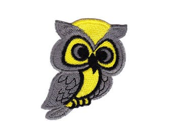 Animal ao47 Owl Bird Eagle embroidery Frame Patch Patches Size 5.0 x 6.5 cm