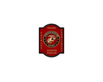MARINES MILITARY PLAQUE Wooden Gift Retirement Promotion United States Marine Corps usmc Wall Hanging Large Sign