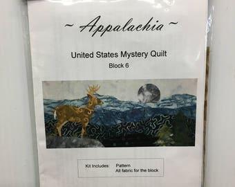 Cantik Batiks Appalachia United States Mystery Quilt Block 6