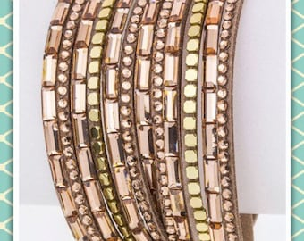 Rose Gold Toned Wrap Cuff