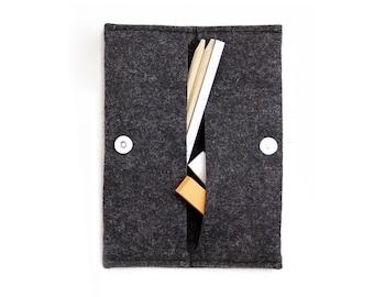 Shop W1001 Wool FELT Stylish Folding Pouch Online - Oliday