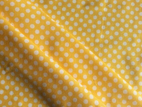 Riley Blake Basics Small Dot Yellow 1 yard Remnant