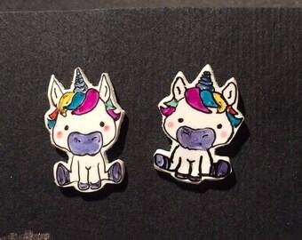 Earrings rainbow Unicorn