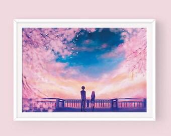 Koe no Katachi Poster, A Silent Voice Poster, 聲の形, Shouya Ishida, Shouko Nishimiya, Anime Poster, Koe no Katachi Fanart, Silent Voice Fanart