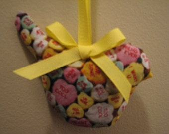 Now Special Price For Valentines  Candy Hearts Hanging Bird Sachet Filled with Organic Lavender