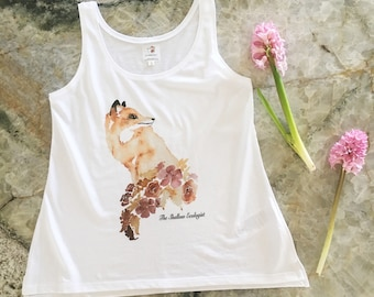 Organic, Eco Friendly Women's Tank Top with Fox Design