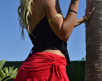 Boho mini skirt  pixie mini skirt