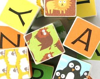 Zoo ABC Wooden Baby Blocks