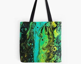 Turquoise Flow Tote Bag