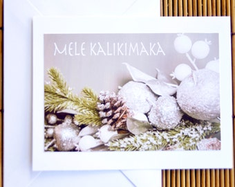 Snowy Christmas Holiday Greeting Cards, Holiday Snow Design, Customizable Greeting Card