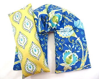 Therapeutic Neck Wrap Eye Pillow Set,Gift Guide For Her,Heating Pad, Microwave Pack,Wellness Relaxation