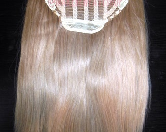 """24"""" 100% Russian Remy Human Hair One Piece Half Head Wig Clip In Hair Extension Premium Quality"""