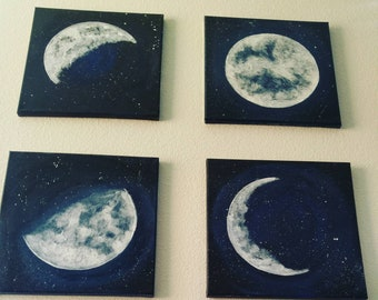4 -6x6 Moon paintings