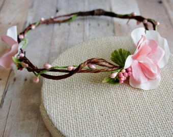 Flower Girl Headwreath, Flower Crown Headband, Wedding Crown, Wedding wreath, Wedding Crown, Flower Girl Wreath, Floral Tiara, Head Wreath