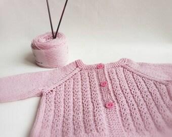 'Cherry blossom' baby vest