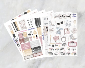 Glamorous Planner Sticker Kit 7 & 1/2 Sheets Erin Condren / Planner Stikers / Life planner / Happy Planner / Dream Planner