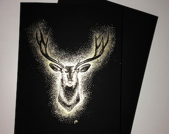 GOLDEN STAG card with matching envelope