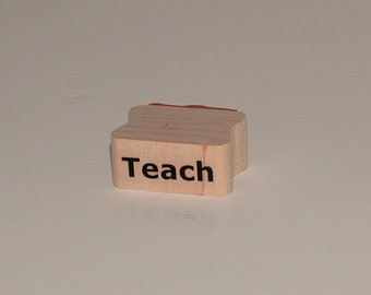 TEACH Rubber Art Stamp