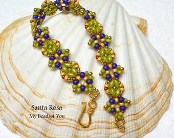 Beadwork Bracelet, Seed Bead Bracelet, SuperDuo Beadwoven Bracelet, Seed Beads, Beadwoven Jewelry, Jewelry Gift