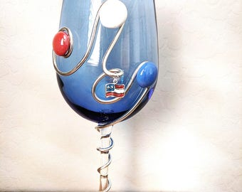 Red White and Blue Glass