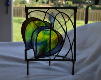 Art Deco Tulip Panel Stained Glass Panel