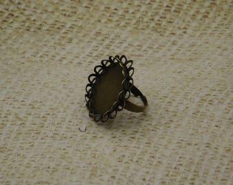 2 support of bronze metal Adjustable ring