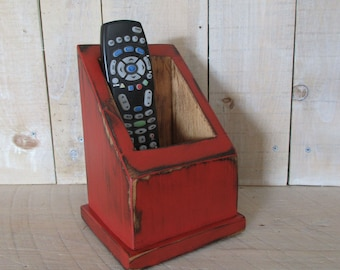 Multi Use Caddy, Remote Control Caddy, Primitive Box, Handmade Caddy, TV Remote Holer, Utility Box, Primitive Decor, (#GACL)