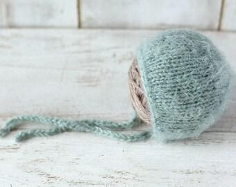 Newborn hat, Baby girl hat, Baby boy bonnet, Knitted hat,Photo prop, Photography