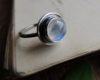 Mother, Moonstone silver ring, summer jewelry, Rings, stacking ring, gemstone ring, Sterling silver, moonstone ring, moonstone jewelry
