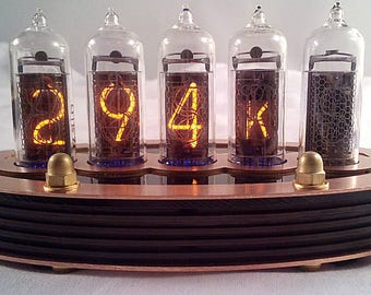 5-tube Nixie Thermometer V2 (Assembled and ready to use, with copper top)