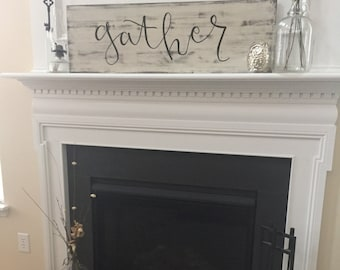 Gather | Large Wooden Sign
