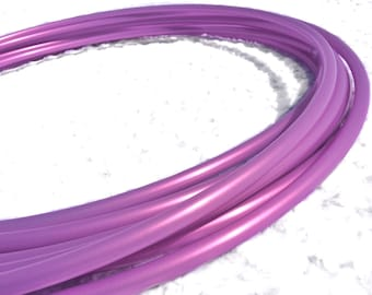 "Metallic Lilac 5/8"" Polypro Dance & Exercise Hula Hoop COLLAPSIBLE push button or minis - orchid purple wisteria"