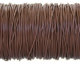 Chocolate Brown Color Greek Leather Cord 1.5 mm Diameter (Length: 5 Yards)