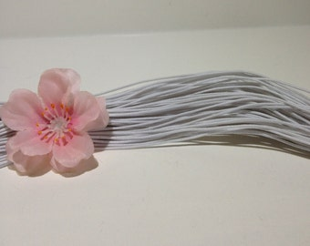 27 feet of 1mm White Elastic Cord