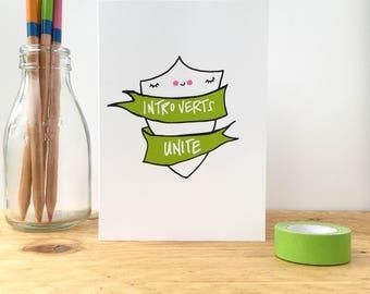 Introverts Unite Card