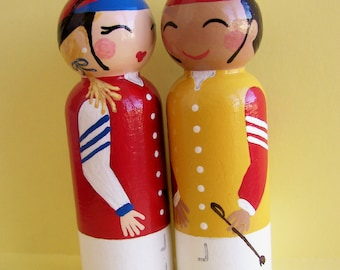 Hand Painted Love Boxes Racing Silks Jockey Kentucky Derby Preakness Belmont Peg Dolls Wood