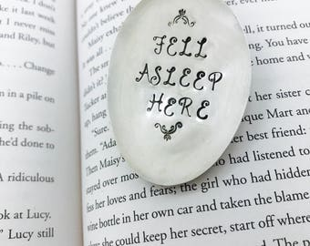 Bookmark, Fell Asleep Here Bookmark, Spoon Bookmark, Gift for Reader, Gift for Book Lover