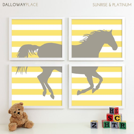 Modern Nursery Art Horse Nursery Print Farm Animal Kids Wall
