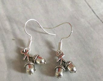 Acorn Earrings, Woodland Earrings, Nature Earrings