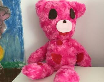 Pink Fluffy Yandere Bear Plush