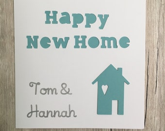 Handmade personalised new home card // Personalized new home card // Happy new home // Housewarming