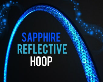 "Sapphire Reflective HDPE or Polypro 5/8"" 3/4"" Dance & Exercise Hula Hoop - NOT an LED hoop blue"