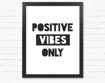 Good Vibes Poster - Digital Poster - Downloadable Gift - Printable Poster- Instant Download Type Poster