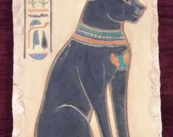 """goddess BAST """"Bastet""""  , Ancient Egypt , pharaonic , Limestone , authentic handmade product"""