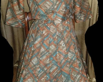 Lovely Vintage Pleated Dress with Matching Jacket